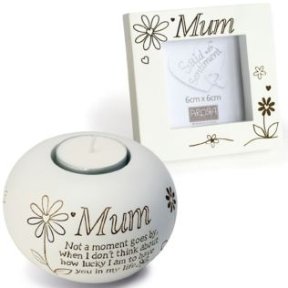 Mum Tealight And Photo Frame Gift Set Product Image