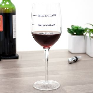 Small Medium Or Mum's Wine Glass Product Image