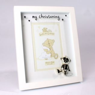 Button Corner My Christening Frame Product Image