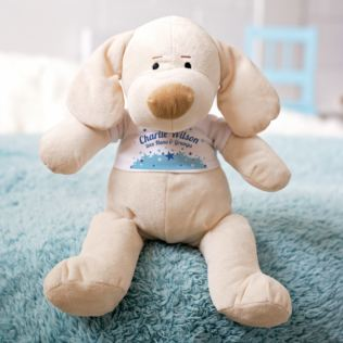 Personalised My First Puppy Soft Toy - Baby Boy Product Image