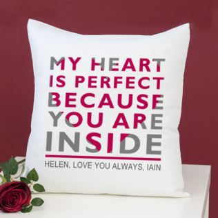 Personalised My Heart Is Perfect Cushion Product Image