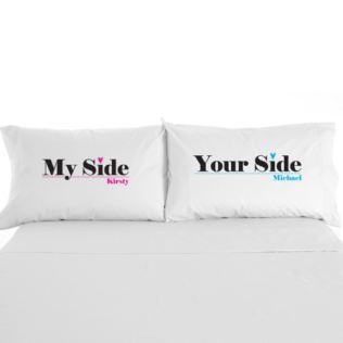My Side / Your Side Personalised Pillowcases Product Image