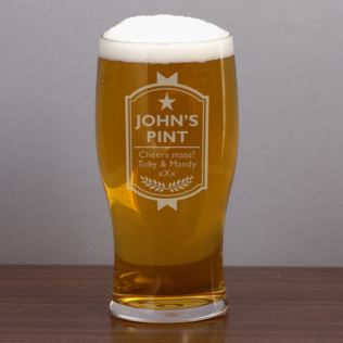 Your Name Personalised Pint Glass Product Image