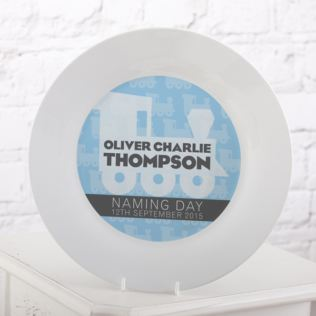 Personalised Naming Day Plate - Boy Product Image