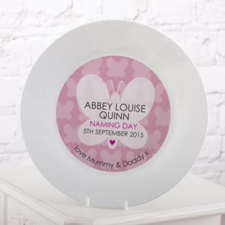 Personalised Naming Day Plate - Girl Product Image