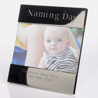 Engraved Naming Day Photo Frame Product Image