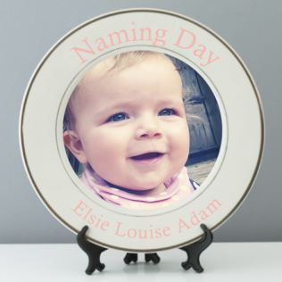 Personalised Naming Day Photo Plate Product Image