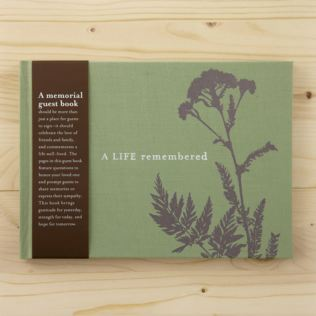 Compendium Memorial Guest Book - A life Remembered Product Image