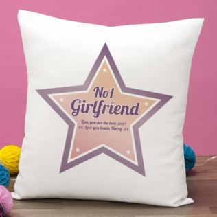 Best Girlfriend Personalised Cushion Product Image