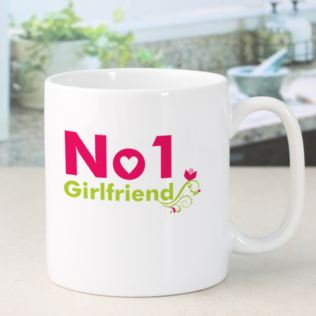 Personalised Number 1 Girlfriend Mug Product Image