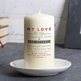 Personalised Oceans And Mountains Candle Product Image