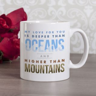 Personalised Oceans and Mountains Mug Product Image