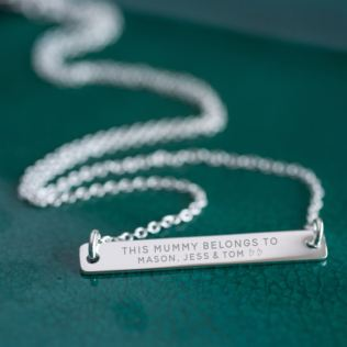 Personalised This Mummy Belongs To .... Necklace Product Image