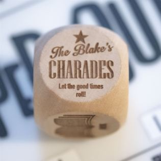 Personalised Charades Dice Product Image
