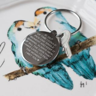 Personalised Moment I Met You Keyring Product Image