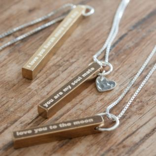 Personalised Raw Brass Necklace Product Image