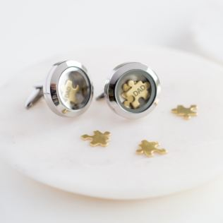 Dad 'I Love You To Pieces' Cufflinks in Personalised Box Product Image