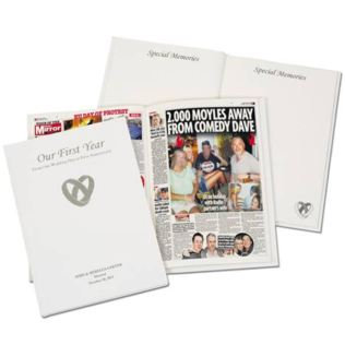 Our First Year Personalised Newspaper Book Product Image