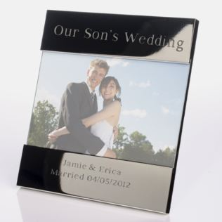 Engraved Our Sons Wedding Photo Frame Product Image
