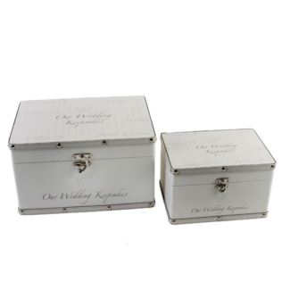 Set of Two Wedding Keepsake Boxes Product Image