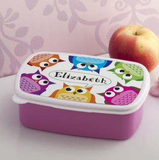 Personalised Hoot Lunch Box Product Image