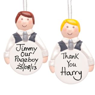 Page Boy Personalised Hanging Ornament Product Image