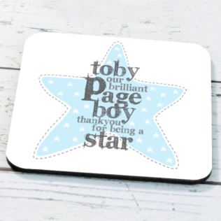 Personalised Page Boy Coaster Product Image
