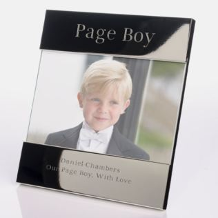 Engraved Page Boy Photo Frame Product Image