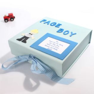 Personalised Page Boy Memory Box Product Image