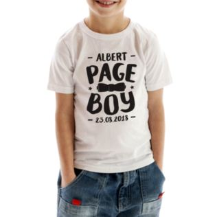 Personalised Page Boy T-Shirt Product Image