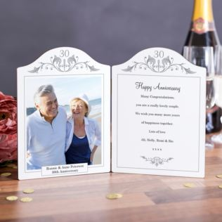 Pearl Anniversary Photo Message Plaque Product Image