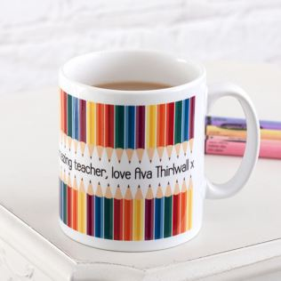 Personalised Teacher Mug - Pencil Design Product Image