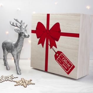 Personalised All Wrapped Up Christmas Eve Box Product Image