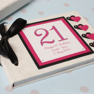 Personalised 21st Birthday Handmade Photo Album Product Image