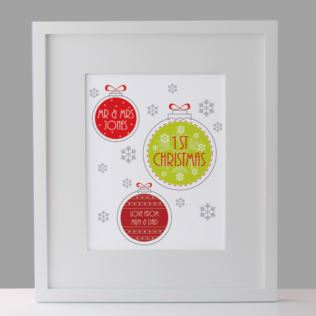 Personalised Our First Christmas Framed Print Product Image