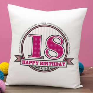 Personalised Birthday Cushion Product Image
