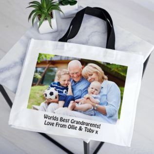 Personalised Black Handled Shopper Product Image