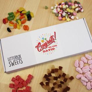 Personalised Congrats To You - Letterbox Sweets Product Image
