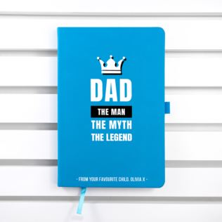 Personalised Dad The Legend A5 Notebook Product Image