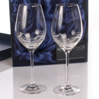 Personalised Swarovski Crystal Wine Glasses Product Image