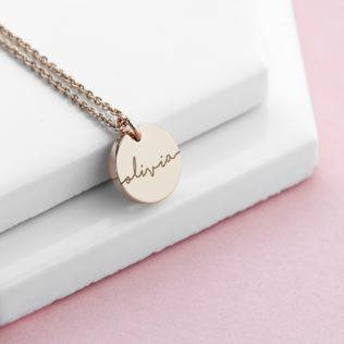 Personalised Disc Necklace Product Image