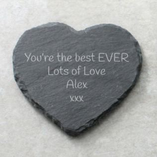 Personalised Heart Slate Coaster Product Image