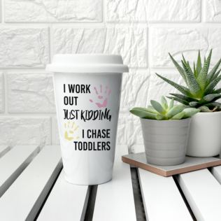 Personalised Just Kidding Travel Mug Product Image
