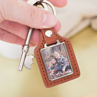 Personalised Rectangle Photo Keyring Product Image