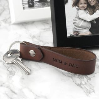 Personalised Leather Keyring Product Image
