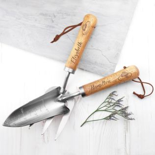Personalised Luxe Silver Trowel and Fork Set Product Image