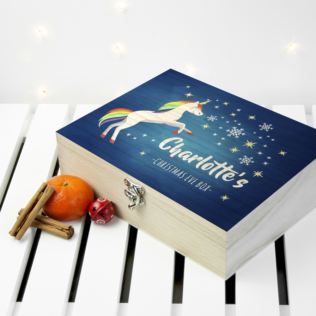 Personalised Rainbow Unicorn Christmas Eve Box Product Image