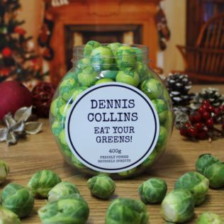 Personalised Chocolate Brussels Sprouts Jar Product Image