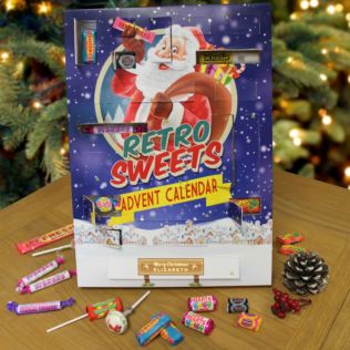 Personalised Retro Sweet Advent Calendar Product Image