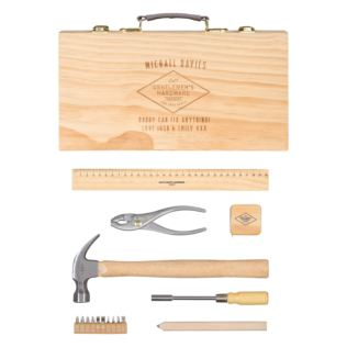 Handy Man Tool Kit in Personalised Wooden Box Product Image